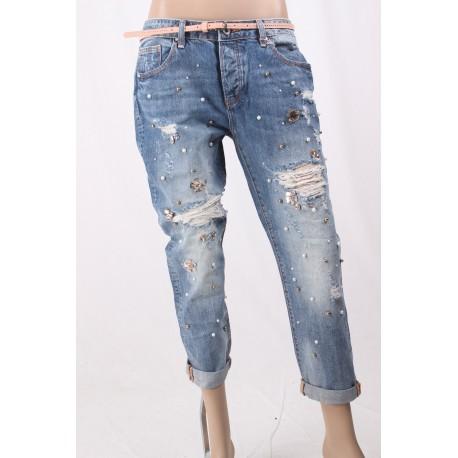 Jeans Boyfriend Capri Fracomina