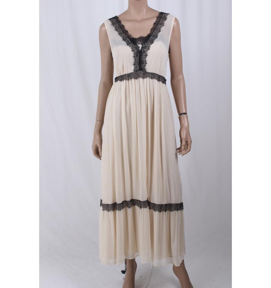 design innovativo 6cc6d 2cc7d Long Dress With Lace Le Coeur Twinset