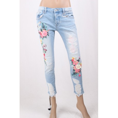 Jeans Floral Fracomina