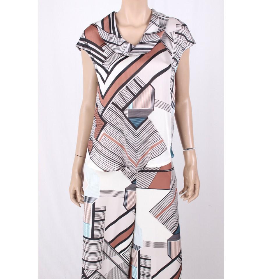 la migliore vendita eccezionale gamma di stili e colori ampia selezione di design Camicia Con Scollo E Fantasia Sandro Ferrone