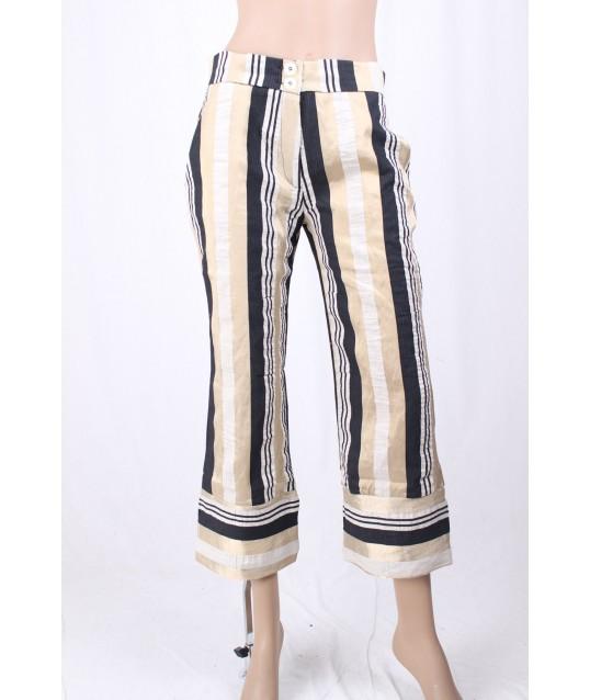 Pantalone Crop Rigato Vicolo Trivelli