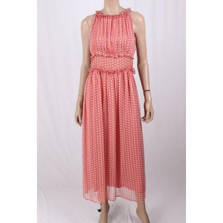 Long Dress With Polka Dots Fracomina