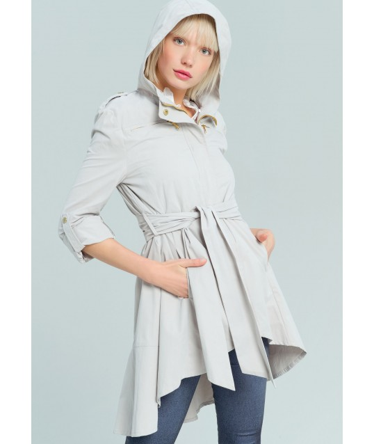 Trench Coat With Belt Fracomina
