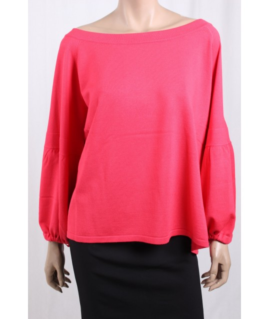 Jersey With Boat Neck Solid Color Emme Marella