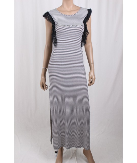 Long Dress With Rows Ironica
