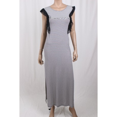 Long Dress With Rows Ironic