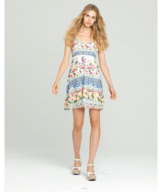 Dress With Floral Design Fracomina