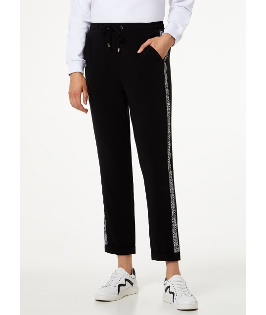 Trousers With Band Logo Liu Jo