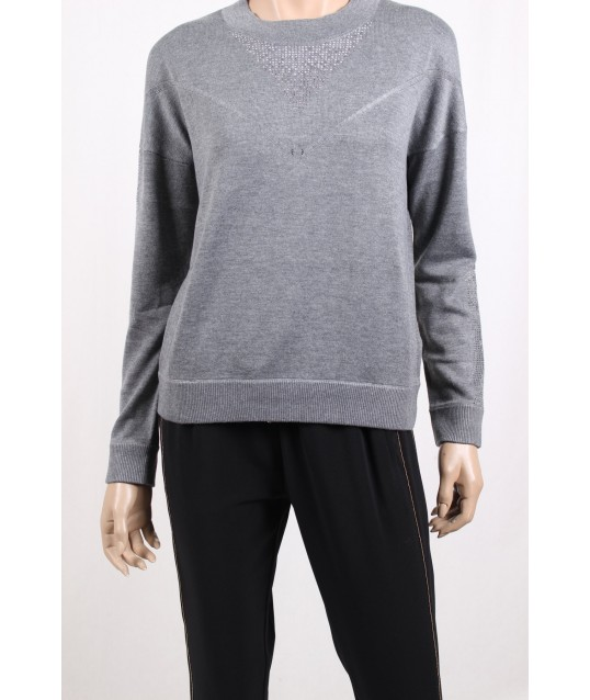 Sweater With Strass Liu Jo