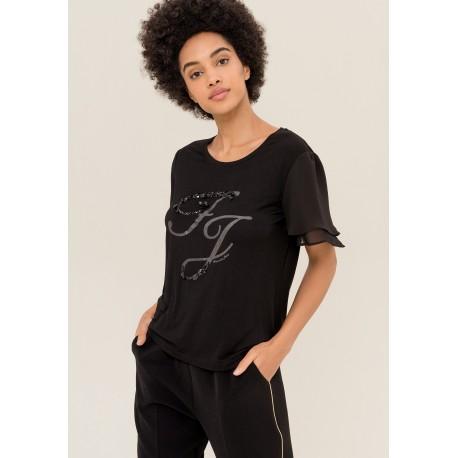 T-shirt With short Sleeves Ruffles Fracomina