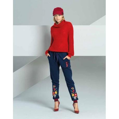 Pantalon Avec Motif Floral Fracomina