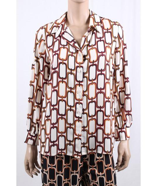 Camicia Con Fantasia Sandro Ferrone