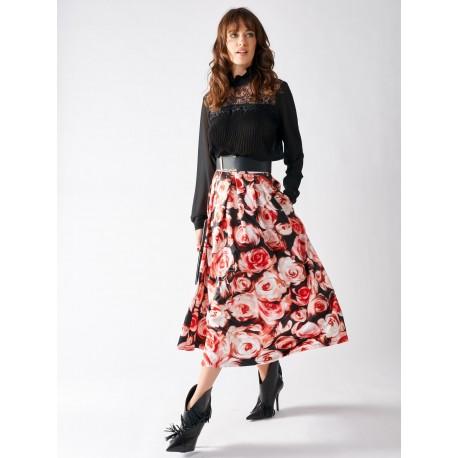Skirt Print Rose Renaissance