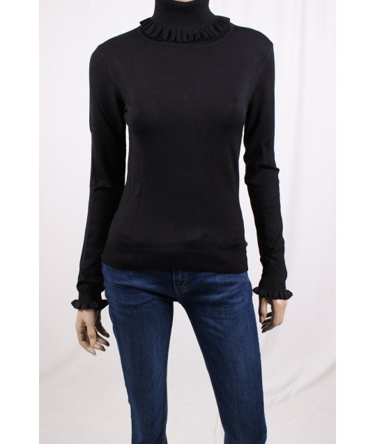 High-Collar Sweater Solid Color Fracomina
