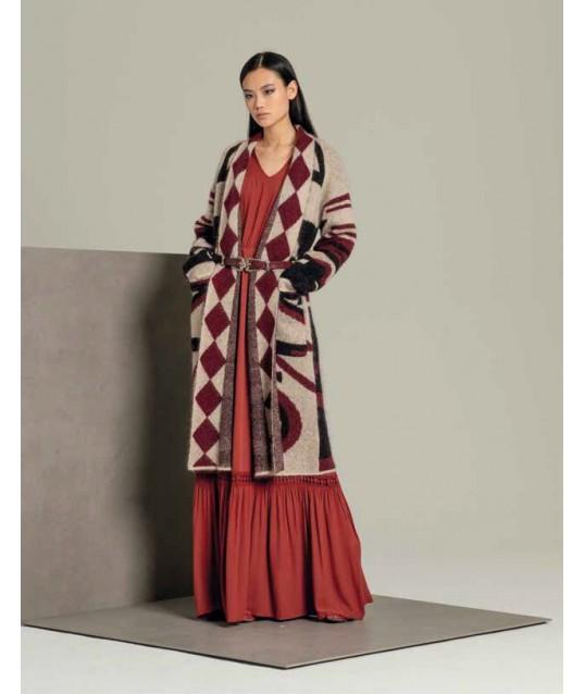 Knit Jacket, Long-Fracomina