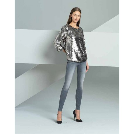 Mesh With Sequins Fracomina