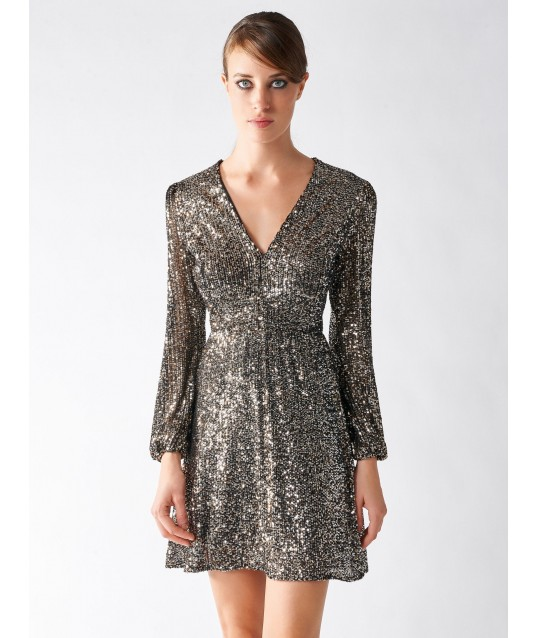 Dress With Sequins And Rinascimento