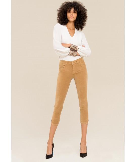 Pantaloni Skinny Scamosciati Fracomina