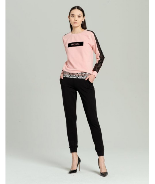 Pantalon En Sweat-Shirt Avec Impression Fracomina