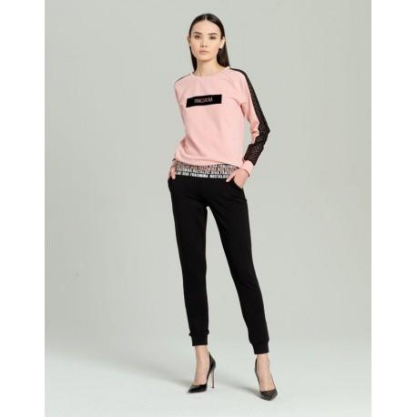 Pantaloni In Felpa Con Stampa Fracomina