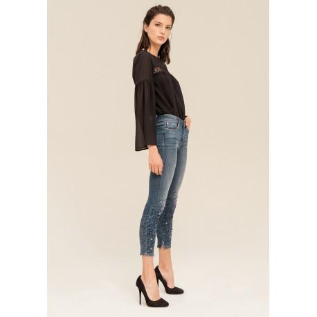 Jeans Super Skinny Con Cinturino Fracomina