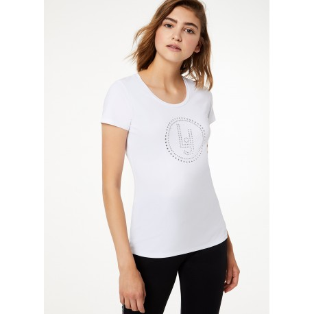 T-Shirt Con Micro Borchie Liu Jo