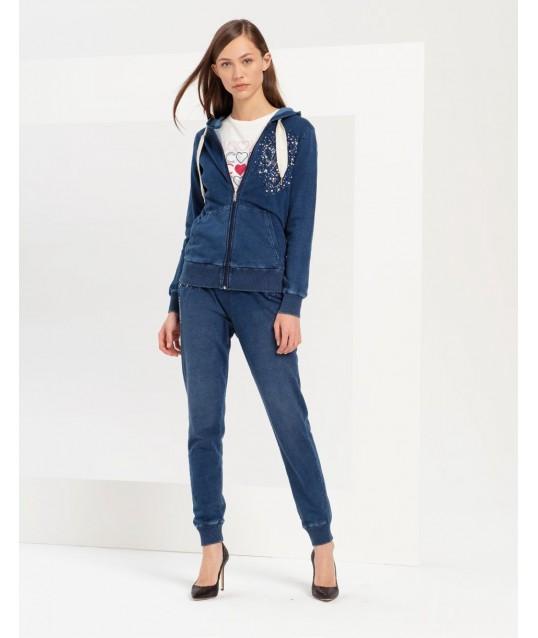 Sweatshirt With Applications Fracomina