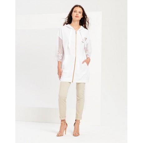 Sweatshirt Long Sleeves Transparent Fracomina