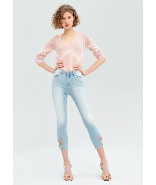 Skinny Jeans Avec des Incrustations Fracomina