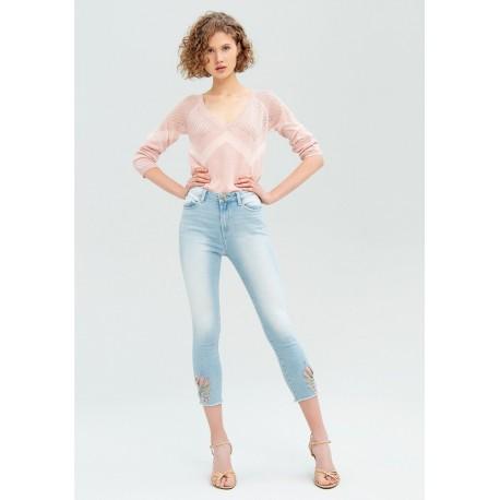 Jeans Skinny Con Intarsi Fracomina