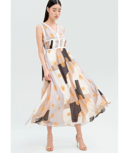 Robe Longue Avec motif Abstrait Fracomina