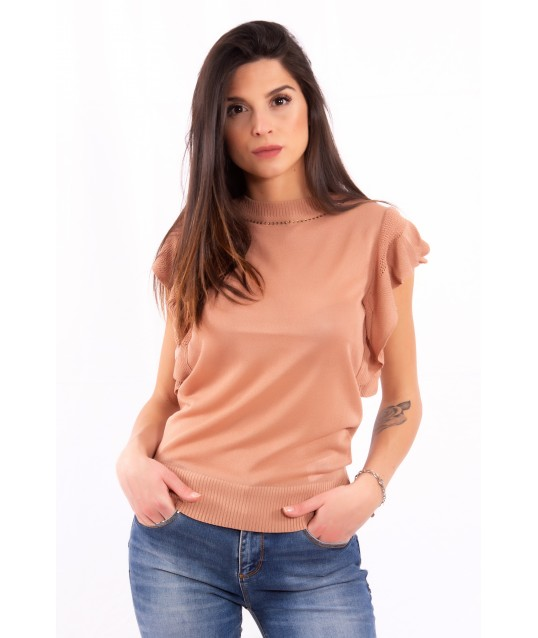T-Shirt With Sleeve With Ruffles Fracomina
