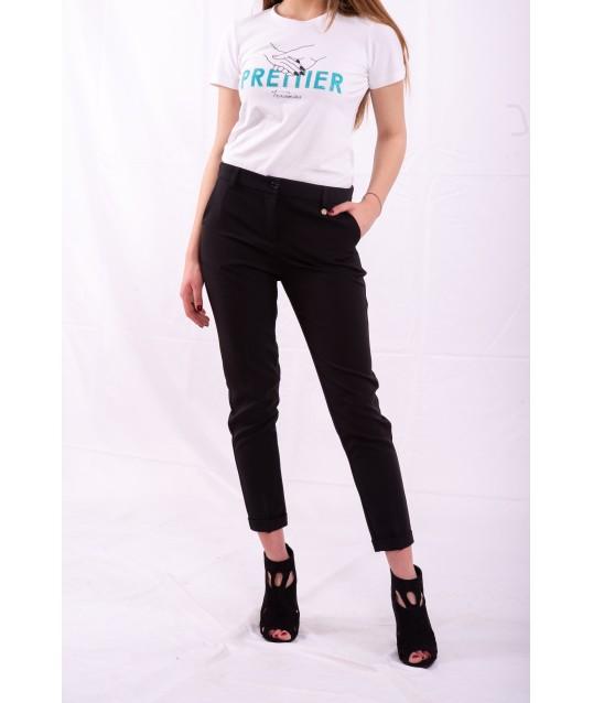Pants Solid Color Cigarette Fracomina