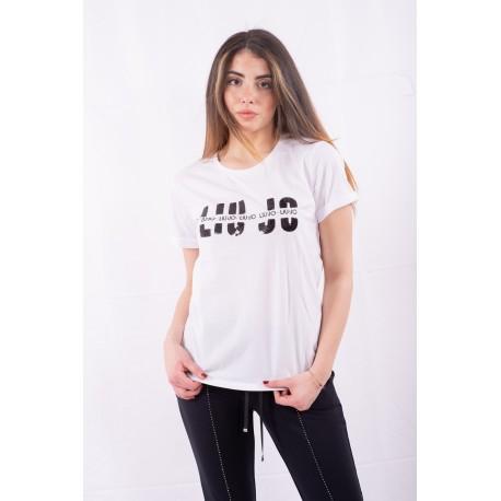 T-Shirt Con Applicazioni Liu Jo