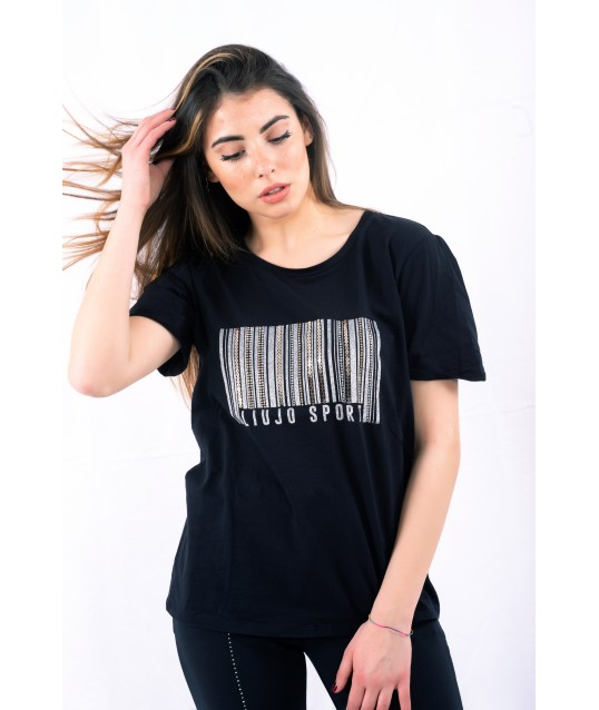 T-Shirt Con Strass Liu Jo
