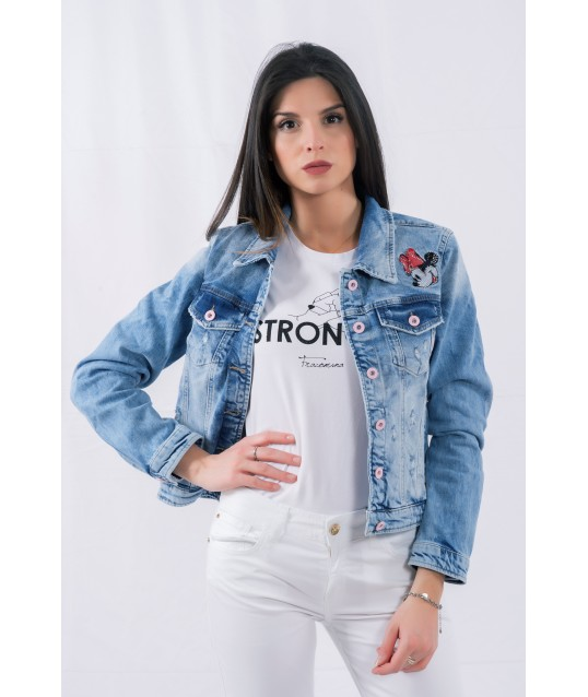 Jeans Jacket With Applications Fracomina