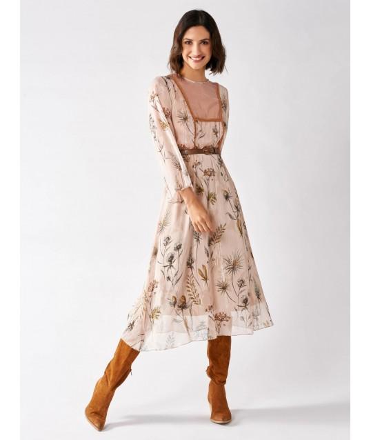 Robe à fleurs Avec filet de Tulle Rinascimento