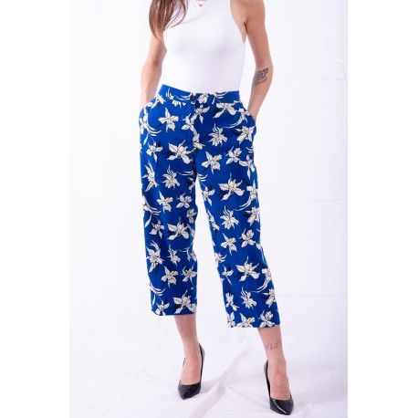 Trousers In A Floral Print Person, By Marina Rinaldi