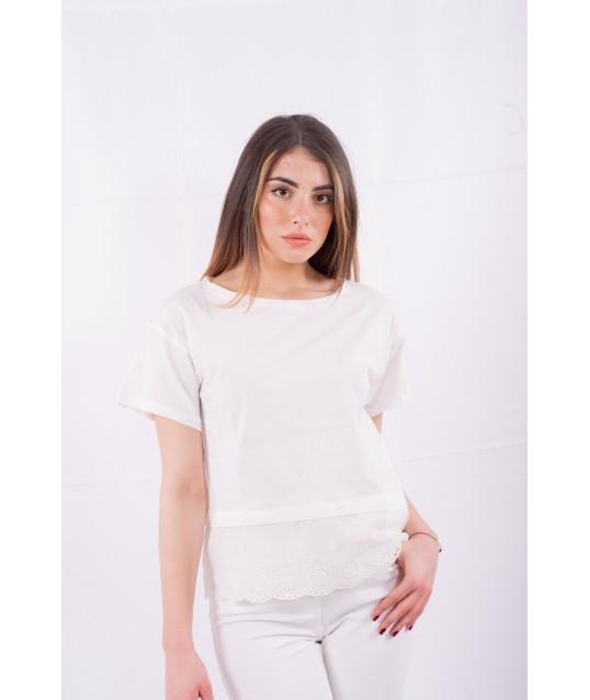 T-Shirt Avec De La Broderie En Vertu De L'Emme Marella
