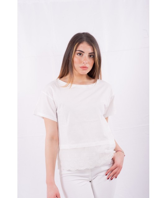 T-Shirt Con Ricamo Sotto Emme Marella