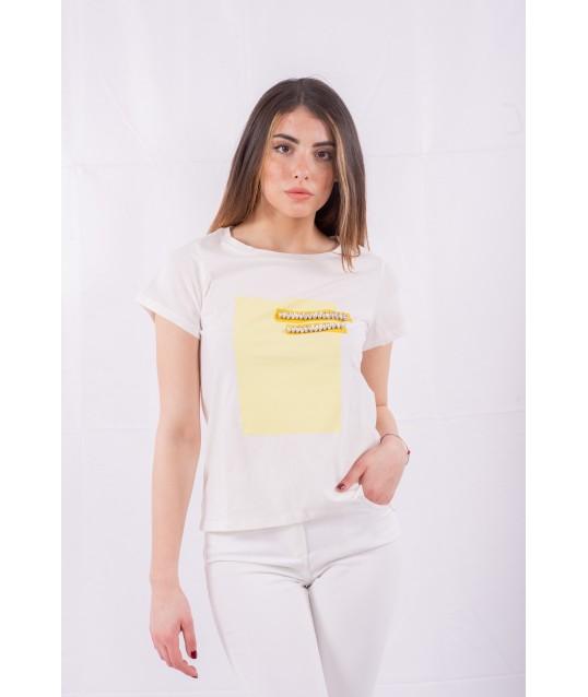 T-Shirt Avec Des Applications Emme Marella