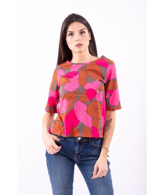 T-Shirt Con Fantasia Emme Marella