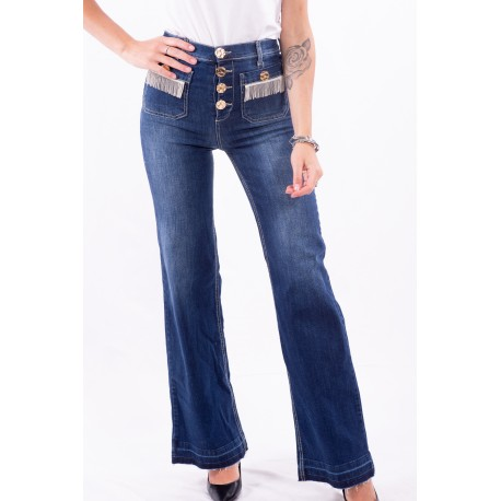 Jeans bell bottoms Taille Haute Fracomina