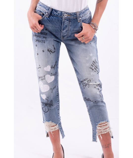 Jeans Con Stampa Fracomina