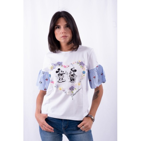 T-shirt With Print of Mickey Mouse