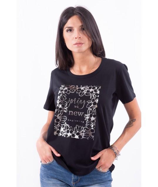 T-Shirt Con Stampa Persona By Marina Rinaldi