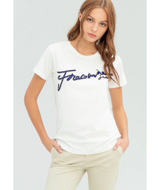 T-shirt With Applications Fracomina