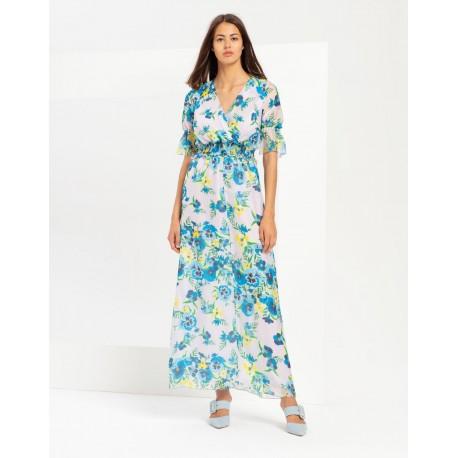 Long Dress With Flowers Fracomina