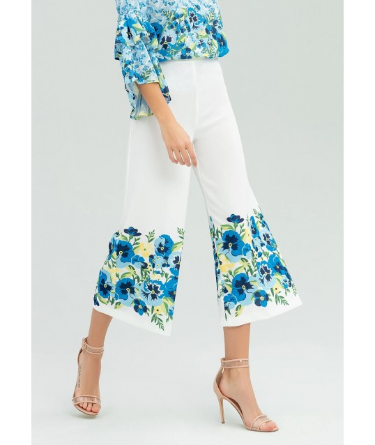 Pants With Floral Print Fracomina