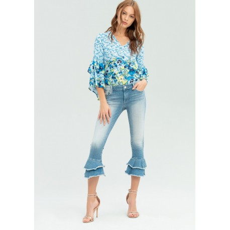 Jeans Con Orlo A Campana Fracomina